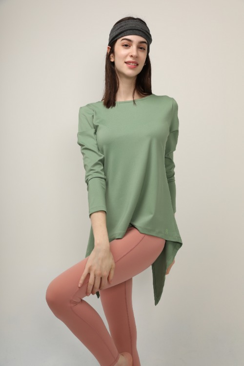 HIP DIP LONG TEE 파인그린
